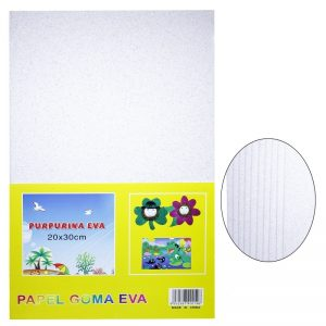 White Colour Glitter Foam Sheets Pack