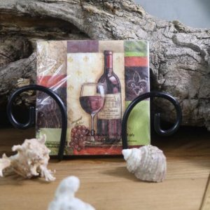 Wine Bottle With Grapes Decoupage Napkin