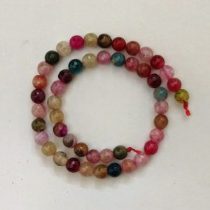 Semi Precious Double Shade Mixed Zed Agate Beads