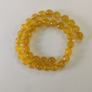 Semi Precious Yellow Zed Agate Beads