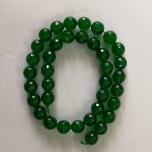Semi Precious Dark Green Zed Agate Beads