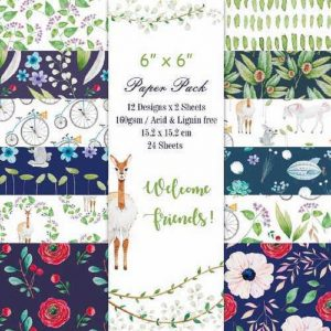 Welcome friends 6x6 Pattern Paper Pack