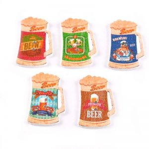 Beer Mugs Wooden Button