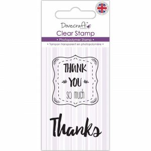 Dovecraft Thank You Clear Stamps