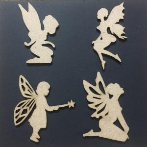 MDF Embellishments - Fairies Theme Cut Outs
