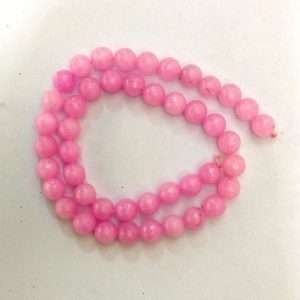 Semi Precious Baby Pink Zed Agate Beads