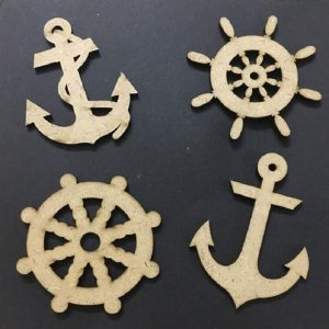 MDF Embellishments - Nautical Theme Cut Outs