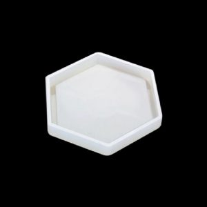 Framed Hexagon Shape Silicone Coaster Mould