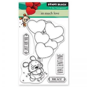 Penny Black Clear Stamps - So Much Love