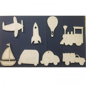 MDF Embellishments - Transport Theme Cut Outs