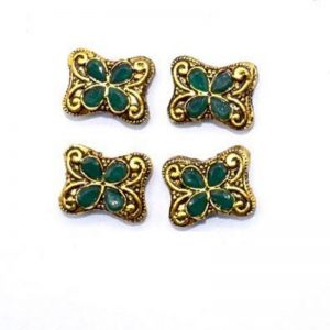 Victorian Beads - Butterfly With Green Stone