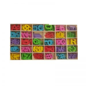 Mixed Colour Wooden Big & Small Alphabets Letters