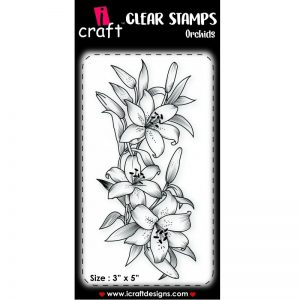 ICraft Clear Stamp - Orchids