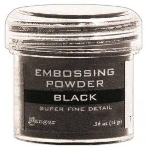 Ranger Embossing Powder - Black 1 Oz