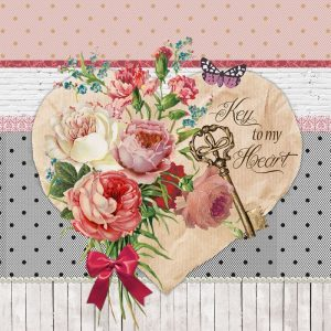 Key To My Heart Decoupage Napkin