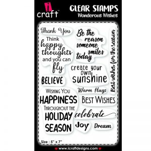 ICraft Clear Stamp - Wonderous Wishes