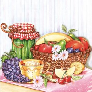Fruits And Vegetables Decoupage Napkin