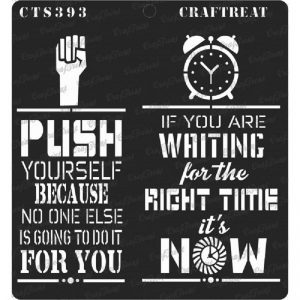 CrafTreat Stencil - Right Time
