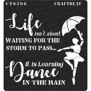 CrafTreat Stencil - Dance in Rain