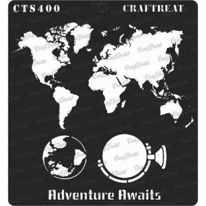 CrafTreat Stencil - Adventure Awaits