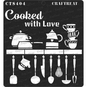 CrafTreat Stencil - Cooked with Love