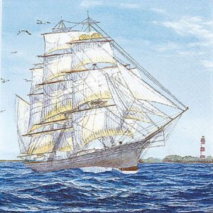 Sailing Ship Decoupage Napkin