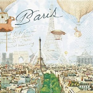 Paris Scenery Decoupage Napkin