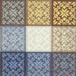 Brown Printed Tiles Decoupage Napkin