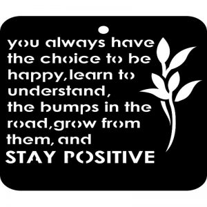 iCraft 4 x 4 Mini Stencil - Stay Positive