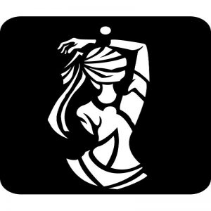 iCraft 4 x 4 Mini Stencil - Dancing Girl