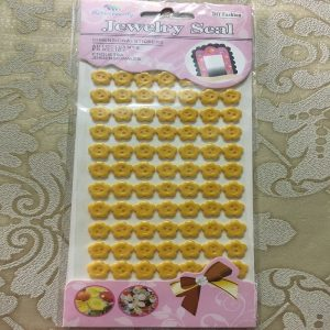 Self Adhesive Flower Buttons - Yellow