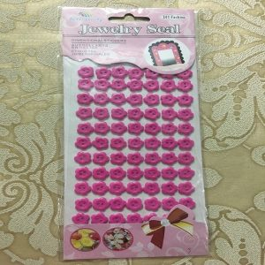 Self Adhesive Flower Buttons - Magenta
