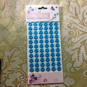 Self Adhesive Flower Buttons - Sky Blue