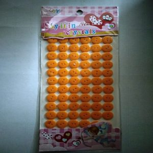 Self Adhesive Round Buttons - Orange
