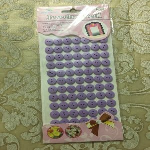 Self Adhesive Round Buttons - Light Purple