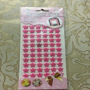 Self Adhesive Star Buttons - Magenta Pink
