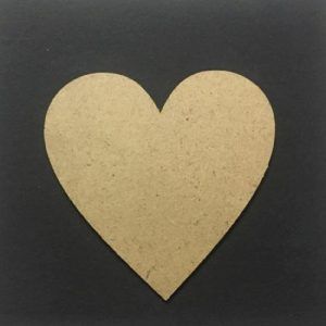 MDF Heart - Set of 5