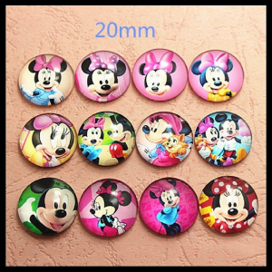 Mickey Glass Cabochons
