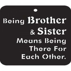 iCraft 4 x 4 Mini Stencils - Being Brother & Sister