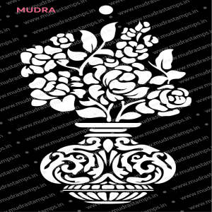 Mudra Stencil - Decorative Flower Pot
