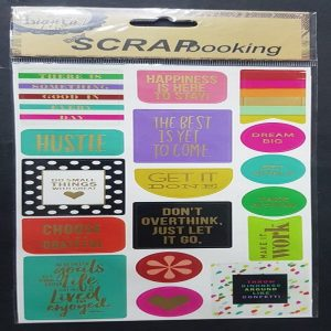Self Adhesive Scrap Booking Sticker - Dream Big