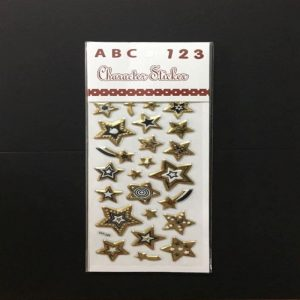 Stickers - Gold Mixed Design Stars