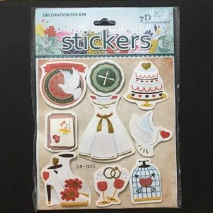 Self Adhesive Scrap Booking Sticker - Girl Dress Party