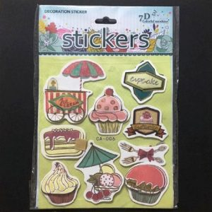 Self Adhesive Scrap Booking Sticker - Cupcake