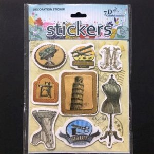 Self Adhesive Scrap Booking Sticker - Vintage