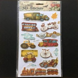 Self Adhesive Scrap Booking Sticker - Transport Theme
