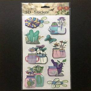 Self Adhesive Scrap Booking Sticker - Succulent Plants