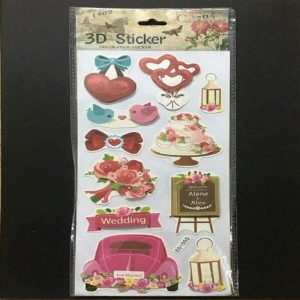 Self Adhesive Scrap Booking Sticker - Wedding