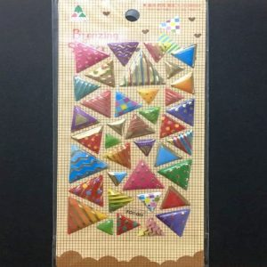 Bronzing Stickers - Triangle