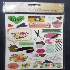 Self Adhesive Scrap Booking Sticker - Hello